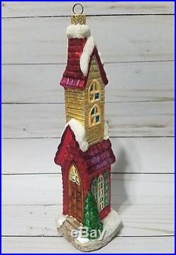 Large rare Christopher Radko 1998 Sugar Hill II house ornaments EUC
