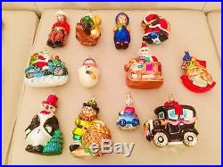Lot Of 22 Christopher Radko Ornaments Excellent preowned condition