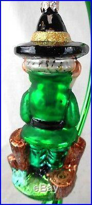 Lot of 3 Christopher Radko Glass Irish St. Patrick's Day Ornaments-no stands