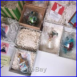 Lot of 6 Christopher Radko Christmas Ornaments MD Anderson Cancer Art AC05