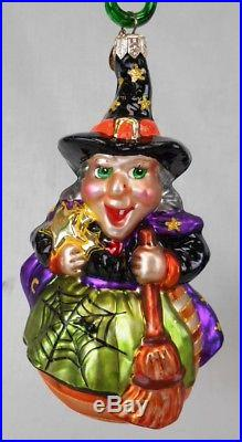 Lot of 6 Christopher Radko Halloween Ornaments withBoxes