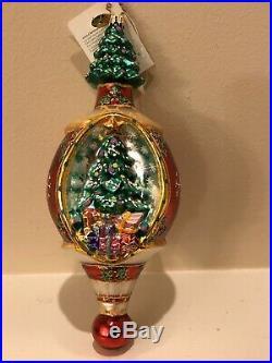 Lot of 8 Christopher Radko Large Glass Christmas Ornaments