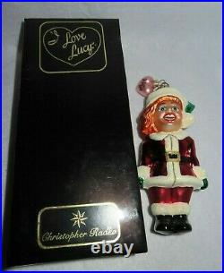 Lucy Loves Christmas Christopher Radko I Love Lucy Blown Glass Ornament