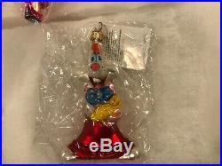 NEW Christopher Radko Disney Roger Rabbit Jessica Rabbit Ornament Set 99-DIS-23