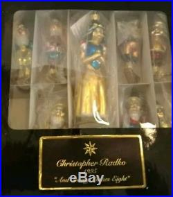 NIB Christopher Radko 1995 And Snowy Makes Eight Clip On Ornament Set #3391