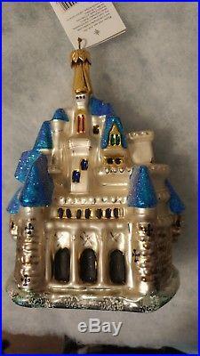 NIB Christopher Radko DISNEY Cinderella Castle Christmas Ornament w Tags 1998