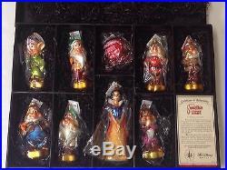 NIB Christopher Radko Snow White Limited Edition Ornament Box Set 186/500 Signed