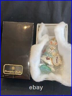 NIB NWT Christopher Radko Disney Alice in Wonderland White Rabbit Ornament RARE