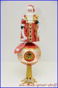 NWT CHRISTOPHER RADKO FESTIVE FELLOW Santa Claus Reflector $150 FINIAL 16