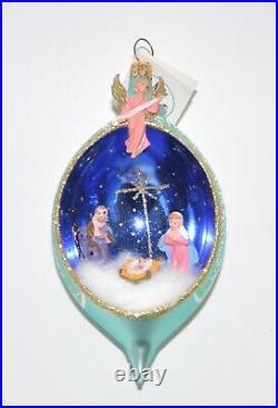 New 1995 O Holy Night Christopher Radko Ornament 95-260-0 Diorama Rare withTag