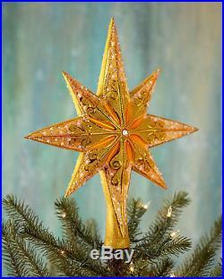 New Christopher Radko Golden Radiance Tree Topper 14T Finial