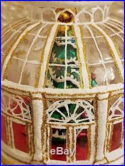 New RARE Christopher Radko Crystal Clear Solarium Ornament Atrium / Observatory