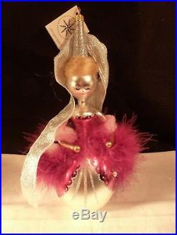 New Rare Christopher Radko Christmas Ornament 10 Purple Maiden's Fair & Bright