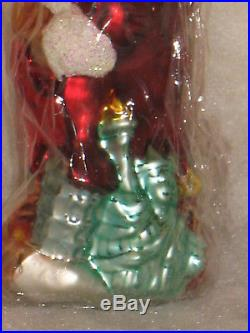 Nwt #1/3000 Christopher Radko 1998 Saks Santa For All Nations Christmas Ornament