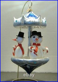 RADKO 00-SP-75 FROSTY CAROUSEL Approximately 10 Tall Limited edition