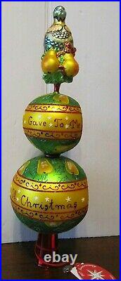 RADKO 12 Days of Christmas First Day Finial Partridge Pear Tree 2005 #822 of 10K