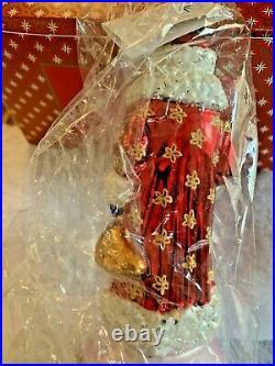 RADKO 15th Anniv Winter Blossom Russia Santa Ball Drop 10 NIB no other stock