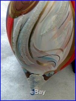 RADKO 1996 Old World Santa GLASS ORNAMENT 96-049-0 Ball Drop 6-1/2 Italian Drop