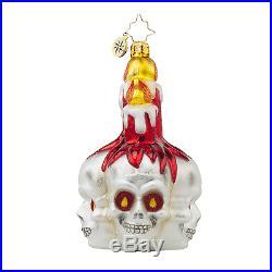 RADKO Frightful Glow Skull & Spooky Entrance Haunted House Ornaments Halloween