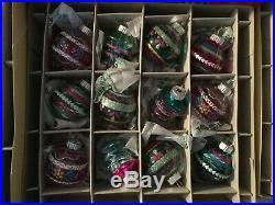 RADKO SHINY BRITE SETS 51 CHRISTMAS Indent Reflector ORNAMENTS 6 Boxes NEW 2017