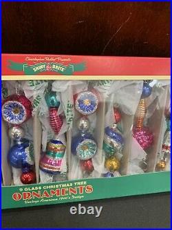 RADKO Shiny Brite Icicle Garland Retro Vintage Glass Beads Christmas Ornaments