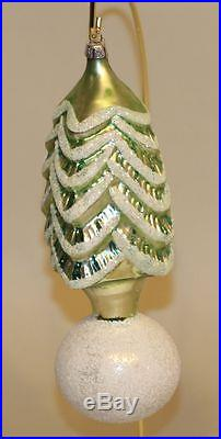 RARE 1990 Christopher Radko Glass Christmas Ornament Snowball Tree 90-073-0