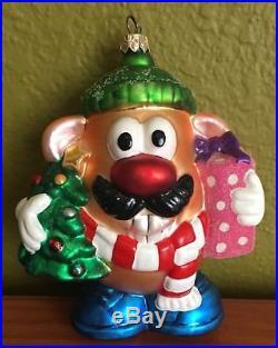 RARE 1998 Christopher Radko Mr. Potato Head Lumberjack Glass Ornament WithBox
