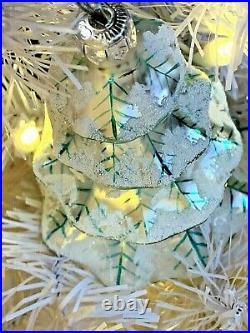 RARE 3 Christopher Radko Winter Tree Glass Ornament 92-101-2 5 w Radko Boxes