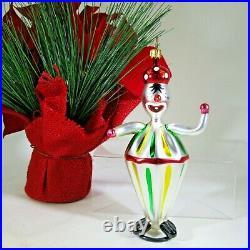 RARE! Christopher RADKO vintage 1994 Italian BOBO CLOWN glass Ornament 94-308