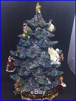 RARE Christopher Radko 12 Days of Christmas Revolving Tree, Lights & Music, HTF