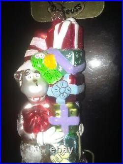 RARE Christopher Radko CAT IN THE HAT glass Ornament DR SEUSS 1998 POLONAISE