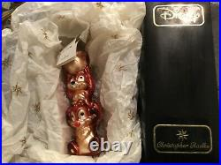 RARE Christopher Radko CHIP & DALE Christmas Ornament LE 1205/3500 NEW in BOX