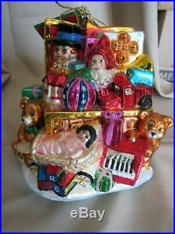 RARE Christopher Radko Glass Tabletop Ornament HUGE! 2004 Night Before Christmas