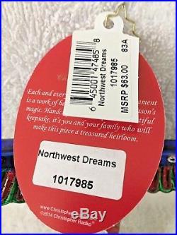 RARE Christopher Radko NORTHWEST DREAMS Ornament 1017985 NWT