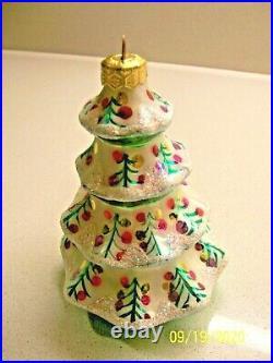 RARE Christopher Radko Winter Tree Ornament 1992 Retired 92-101-2