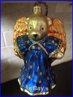 RARE MUFFY ANGEL VANDERBEAR Christopher Radko Ornament Golden Wings & Halo