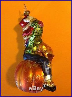 RARE RADKO Fall Pumpkin BASKET ORNAMENT Longaberger Halloween Thanksgiving