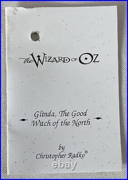 RARE! Radko Wizard Of Oz Blown Glass Ornament GLENDA THE GOOD WITCH In Box