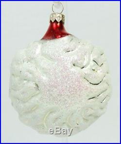 RARE Santa Face Glass Christopher Radko Christmas Ornament