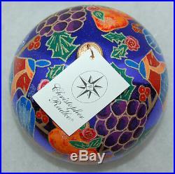 RET Radko PARTRIDGE PARFAIT Christmas Ornament LG BALL 99-011-0 Rare