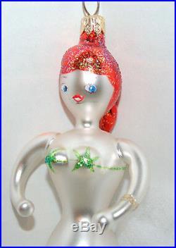RET VINTAGE Radko TEENAGE MERMAID Christmas Ornament 93-226-1 Made in Italy