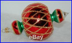 RET Vintage Radko JUMBO SPINTOP Christmas Ornament 93-302-1