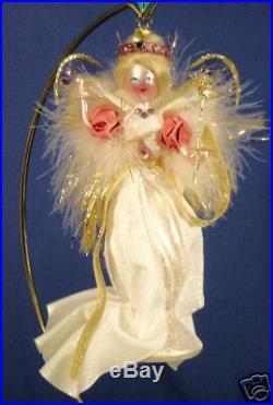 Radko 10132275 Royal Flutter White Lady Italian Retired Ornament