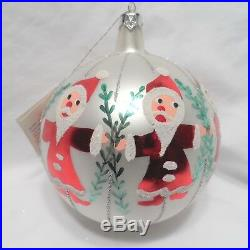 Radko 1988 CIRCLE OF SANTAS Vintage Santas Hand in Hand Ornament NEW withTag