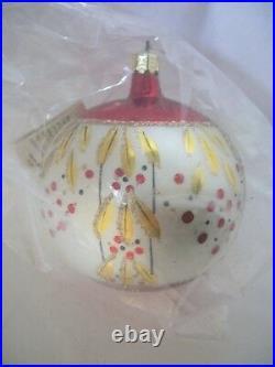 Radko 1989 CARMEN MIRANDA Vintage Red & Gold Ornament NEWwithTag STILL SEALED