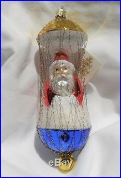 Radko 1990 BALLOONING SANTA Vintage Santa in Clouds Ornament RARE New withTag