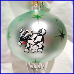 Radko 1993 MOON JUMP Vintage RARE Crescent Moon & Cow Ornament NEW withTag