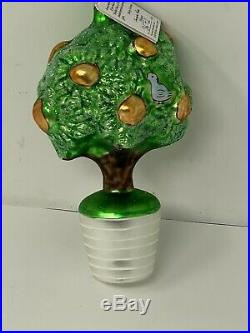 Radko 1993 PARTRIDGE IN A PEAR TREE LTD ED 1st DAY Christmas Ornament With Tag