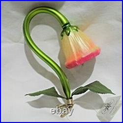 Radko 1995 COCKLE BELL Vintage Floral Clip Bell Ornament NEW withTag