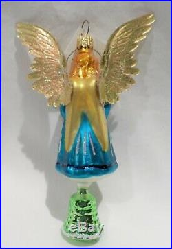 Radko 1995 EVERY TIME A BELL RINGS Vintage RARE Angel Bell Ornament NEW withTag